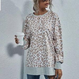 Leopard Print Sweatshirt.